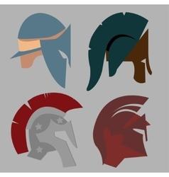 Set Spartan Helmet vector
