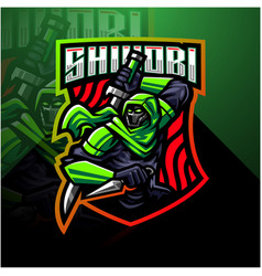 Shinobi esport mascot logo design vector