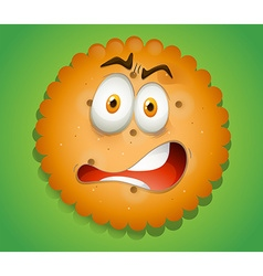 Shocking face on cookie vector