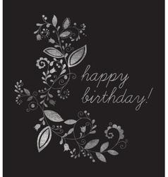 Silver greeting happy birthday card vector