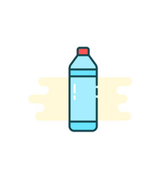 simple cartoon bottle icon with water vector image