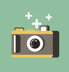small photo camera vector image