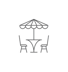 Terrace cafe icon concept isolated on white vector