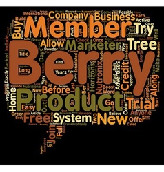 The Berry Tree Now Has A Try It Before You Buy It vector image