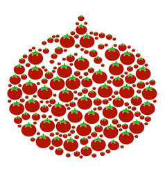 tomato vegetable composition of tomato vector image