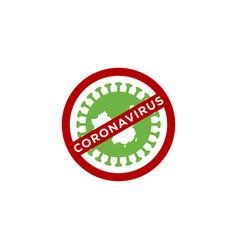 virus corona logo design vector image