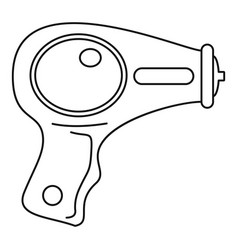 Water pistol icon outline style vector
