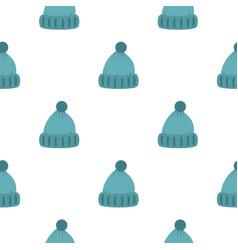 woolen hat pattern flat vector image