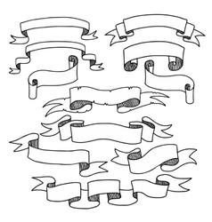 Graphic Ribbons Set vector image
