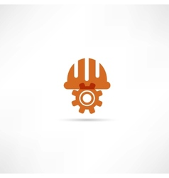 Orange setting buttons icon vector image vector image