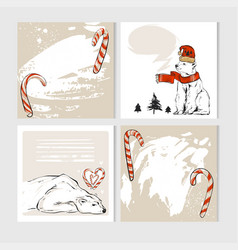 set of creative 6 journaling cards christmas vector image