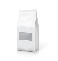 tea coffee foil or paper package pack snack bag vector image
