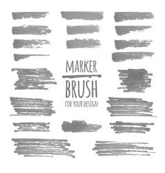 textured marker banners lines and stains vector image