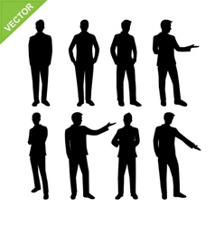 Actions of business man silhouettes vector