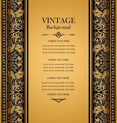 antique vintage card victorian gold ornament vector image vector image