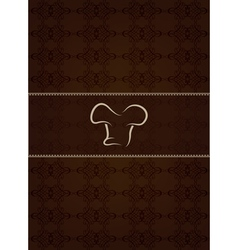 Brown restaurant menu and floral texture vector image vector image