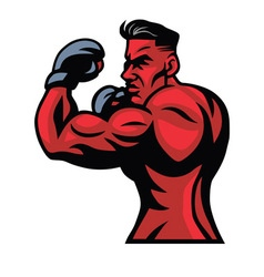 MMA Fighter Mascot Pose vector image