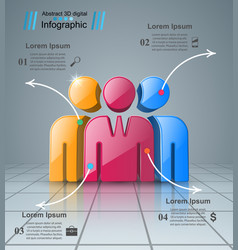 people icon business infographics vector image vector image