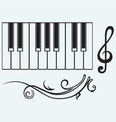 Piano and treble clef vector image