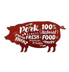 Pig symbol Meat pork vector image vector image