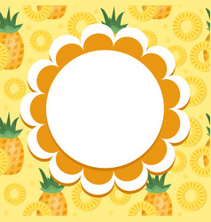 pineapple label wrapper template for your design vector image vector image