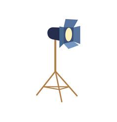 professional photo studio floor lamp flash light vector image vector image