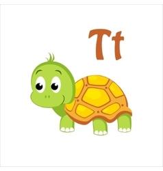 Turtle Funny Alphabet Animal vector image vector image