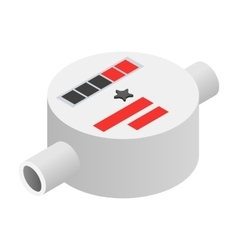 Water meter isometric 3d icon vector image