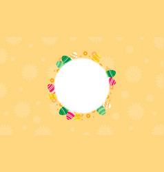art of easter egg frame vector image