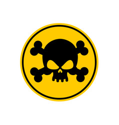 danger poison sign yellow attention toxic hazard vector image vector image