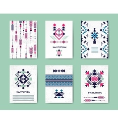 Native american tribal creative cards and vector image vector image