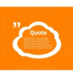 Quote text bubble Commas note message and vector image vector image
