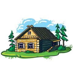 sketchy hand-drawn house russian hut vector image