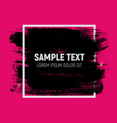 abstract brush stroke designs in black pink and vector image