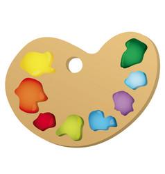 color paint palette icon vector image