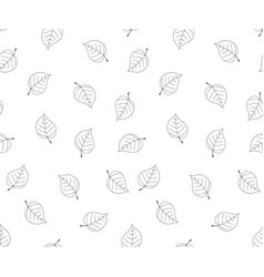 hand drawn leaves in doodle styleseamless vector image vector image