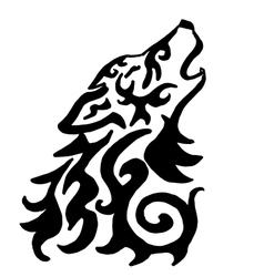 High quality original wolf tattoo vector image