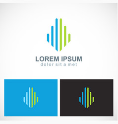 line building colored company logo vector image