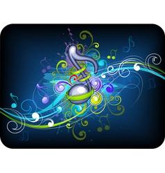 Music background design vector