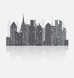 Night city scape concept vector image