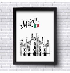 Patriotic or travel poster design for Milan vector image vector image