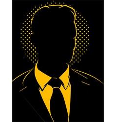 Retro Comic Business Man Silhouette vector image vector image