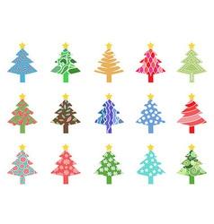 simple color xmas tree icon vector image vector image