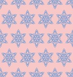 Snowflake seamlesspattern Christmas background vector image vector image