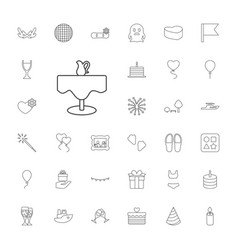 33 holiday icons vector