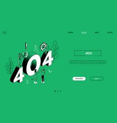 404 error landing page - modern web banner vector image
