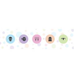 5 death icons vector