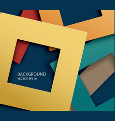 Abstract paper square shapes background vector