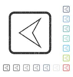 Arrowhead left icon rubber watermark vector
