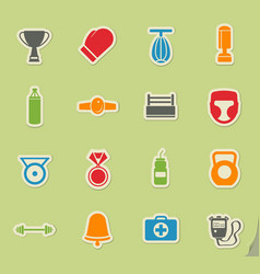 Boxing simply icons vector